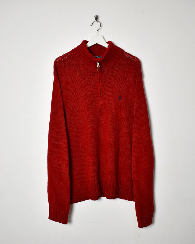 Ralph Lauren 1/4 Zip Sweatshirt - Large - Domno Vintage 90s, 80s, 00s Retro and Vintage Clothing