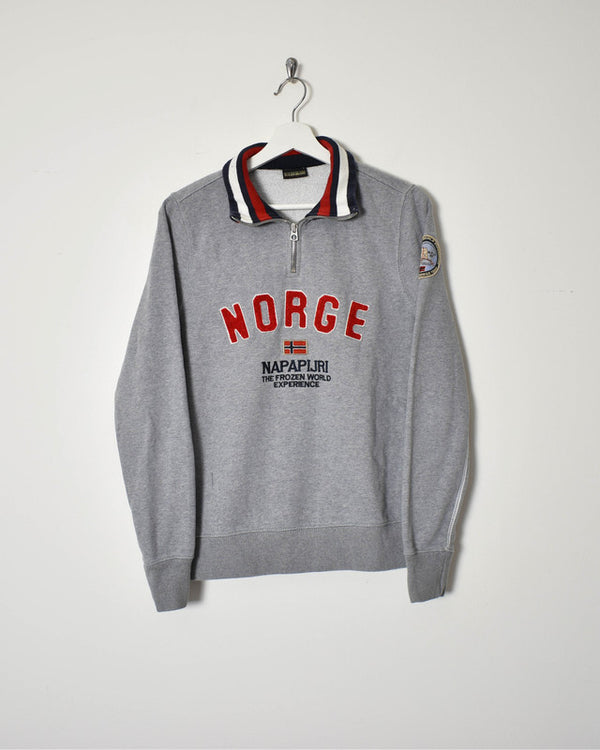 Napapijri 1/4 Zip Sweatshirt - Small