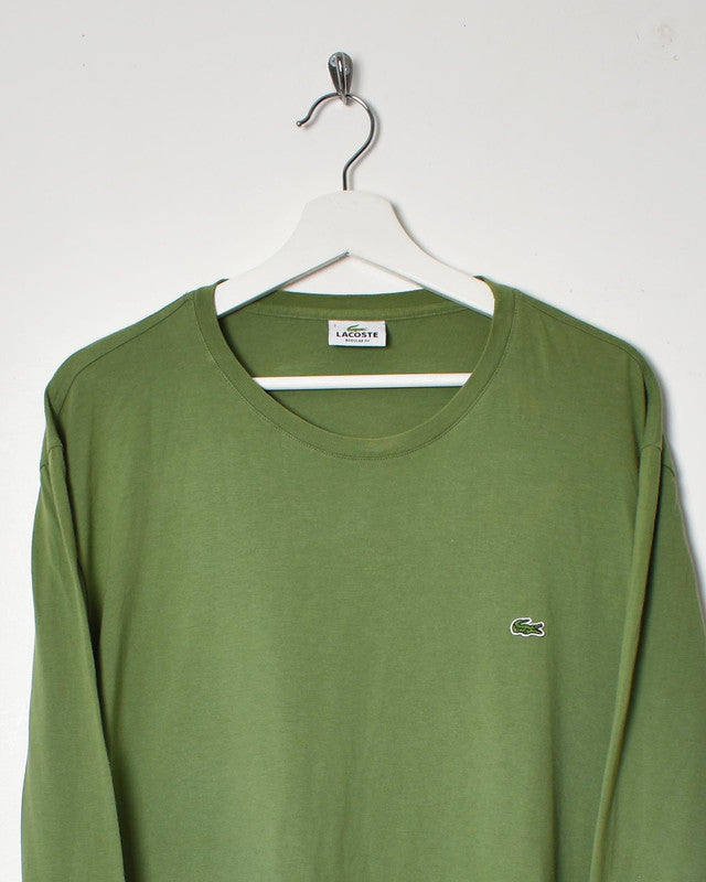 Lacoste Long Sleeve T-Shirt - Large - Domno Vintage 90s, 80s, 00s Retro and Vintage Clothing