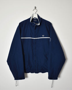Fred Perry Fleece Lined Jacket - Large - Domno Vintage 90s, 80s, 00s Retro and Vintage Clothing