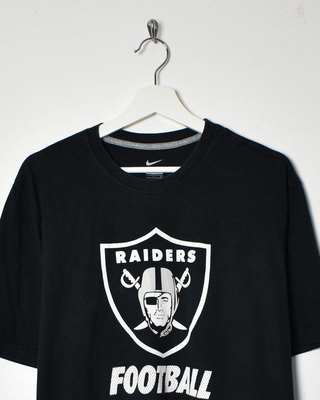 Nike Raiders T-Shirt - Large - Domno Vintage 90s, 80s, 00s Retro and Vintage Clothing