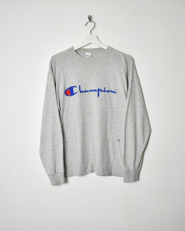 Champion Long Sleeve T-Shirt - Small - Domno Vintage 90s, 80s, 00s Retro and Vintage Clothing
