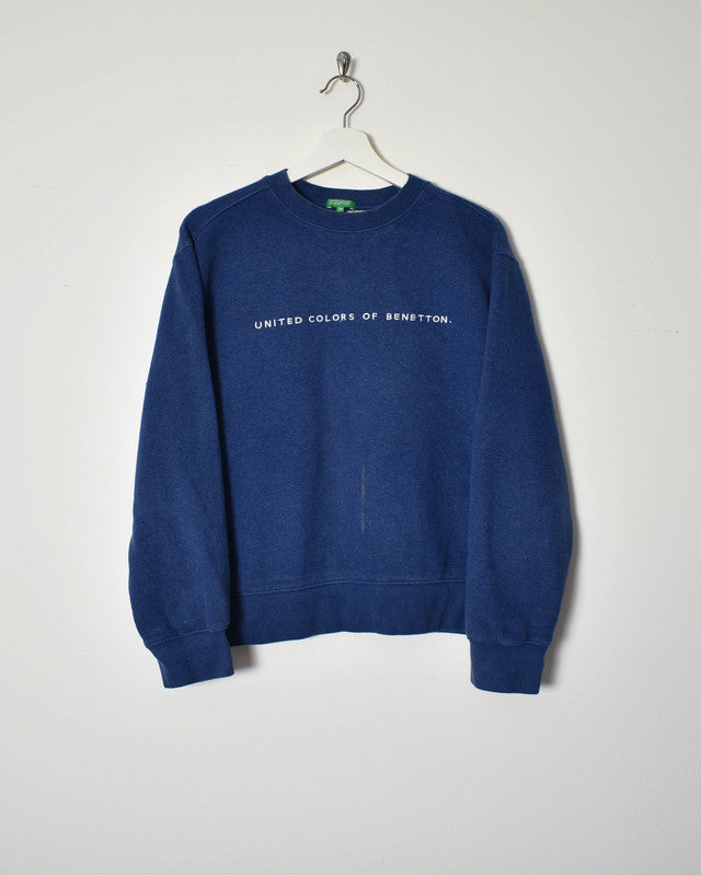 Benetton Sweatshirt - Small - Domno Vintage 90s, 80s, 00s Retro and Vintage Clothing