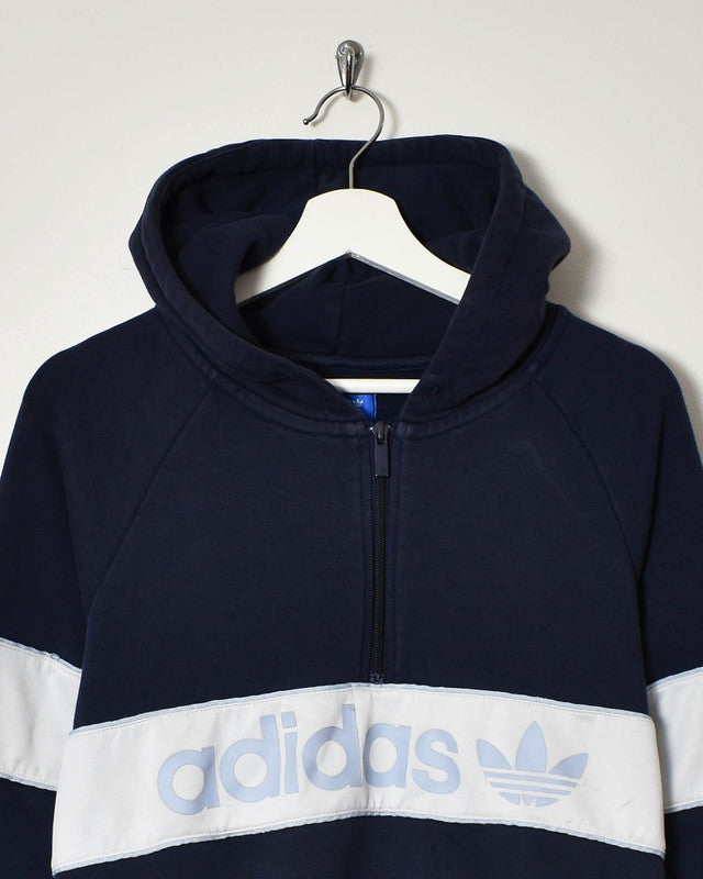 Adidas 1/4 Zip Hoodie - Small - Domno Vintage 90s, 80s, 00s Retro and Vintage Clothing