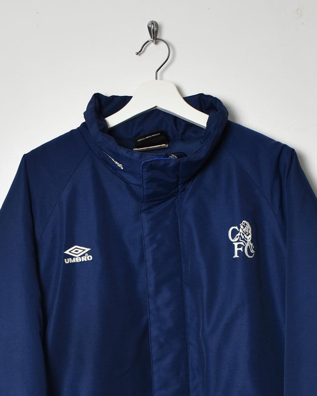 Umbro Chelsea FC Coat - XX-Large - Domno Vintage 90s, 80s, 00s Retro and Vintage Clothing