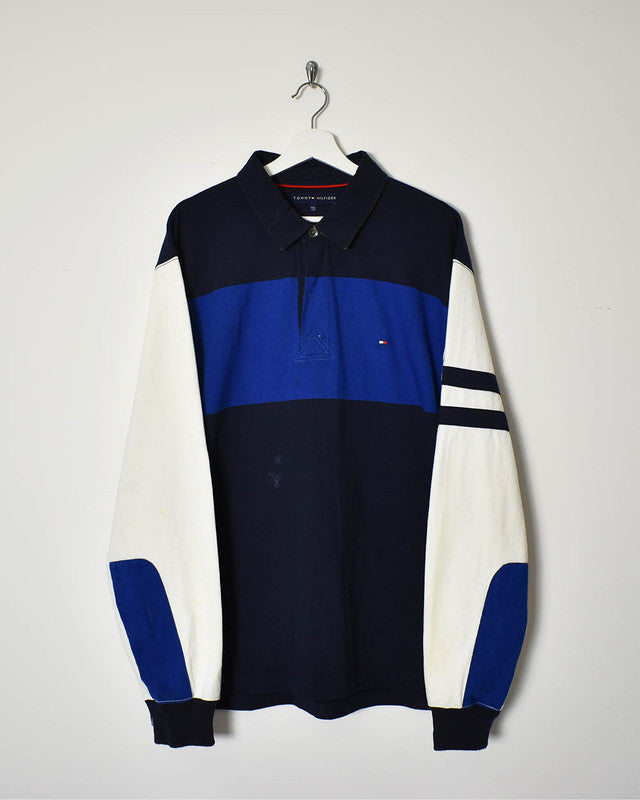 Tommy Hilfiger Rugby Shirt - XX-Large - Domno Vintage 90s, 80s, 00s Retro and Vintage Clothing