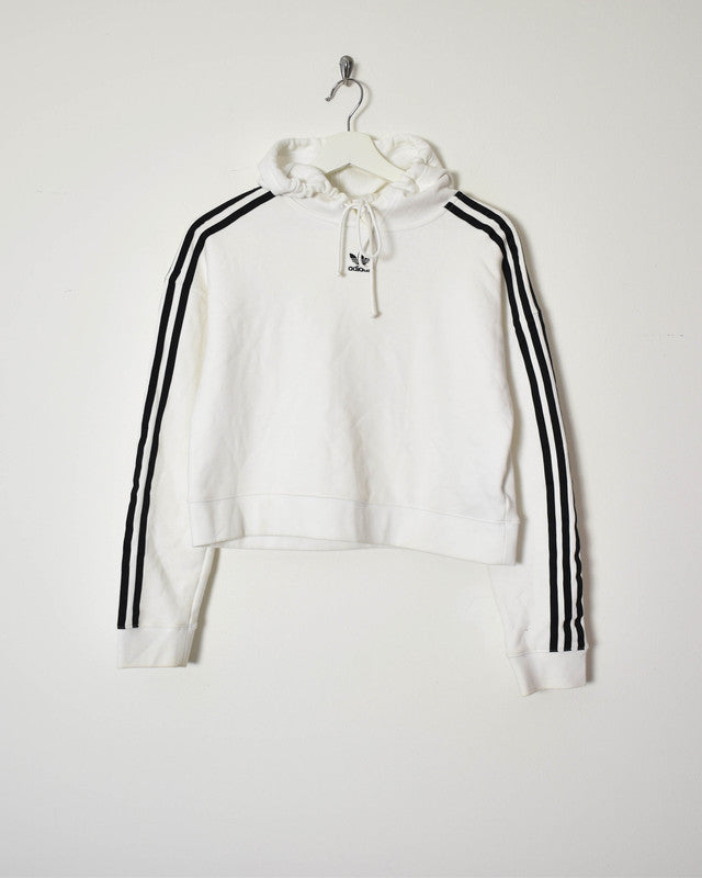Adidas Women's Cropped Hoodie - Small - Domno Vintage 90s, 80s, 00s Retro and Vintage Clothing