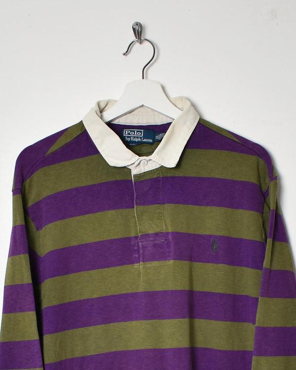Ralph Lauren Rugby Shirt - X-Large - Domno Vintage 90s, 80s, 00s Retro and Vintage Clothing