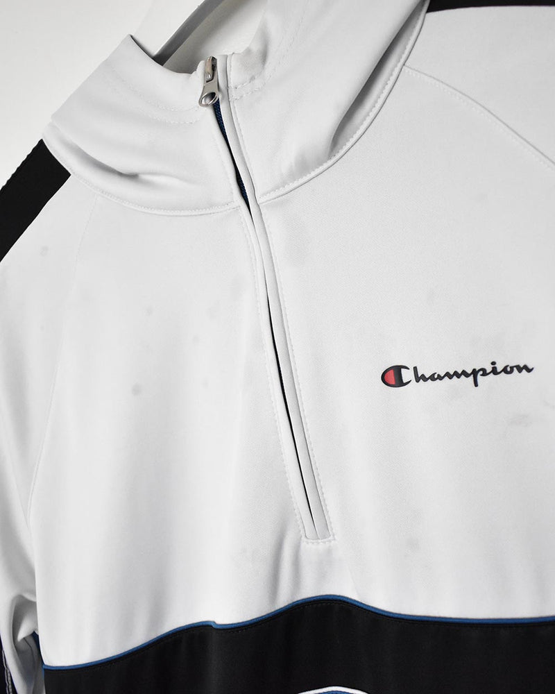 Champion 1/4 Zip Tracksuit Top - Medium - Domno Vintage 90s, 80s, 00s Retro and Vintage Clothing
