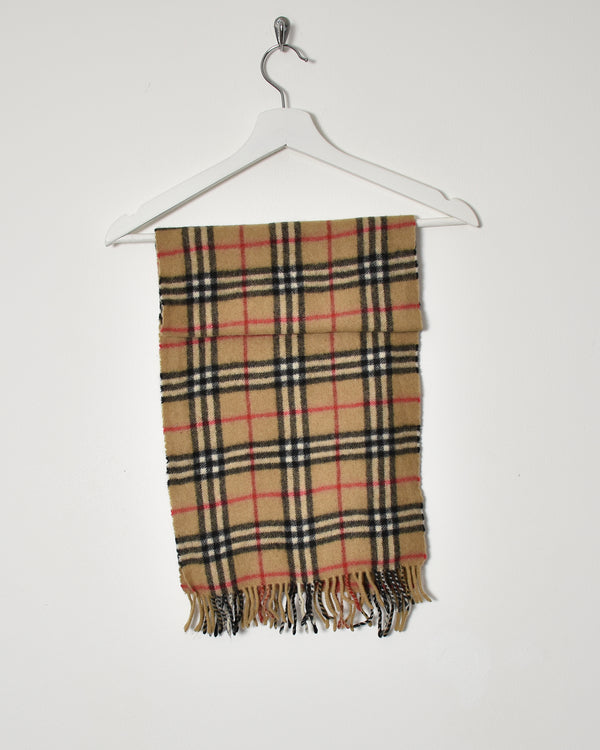 Burberry Nova Check Cashmere Gold Tag Scarf - Domno Vintage 90s, 80s, 00s Retro and Vintage Clothing