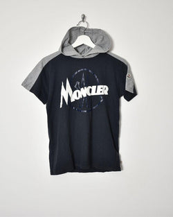 Moncler Womens Hooded T-Shirt - Small - Domno Vintage 90s, 80s, 00s Retro and Vintage Clothing