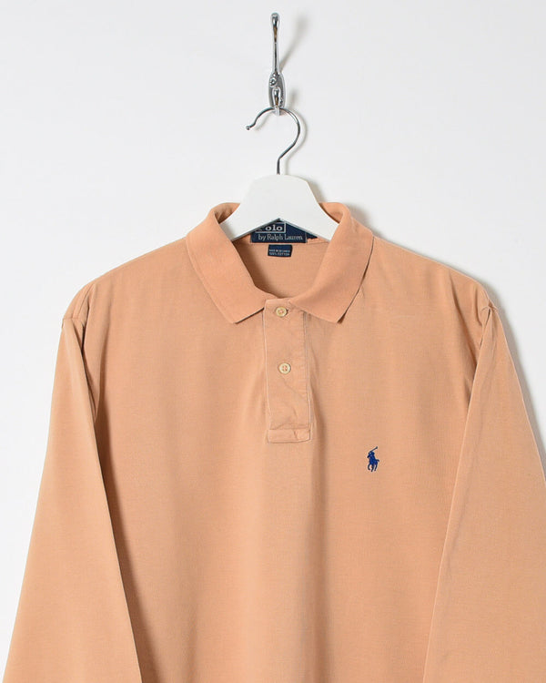 Ralph Lauren Long Sleeved Polo Shirt - Medium - Domno Vintage 90s, 80s, 00s Retro and Vintage Clothing