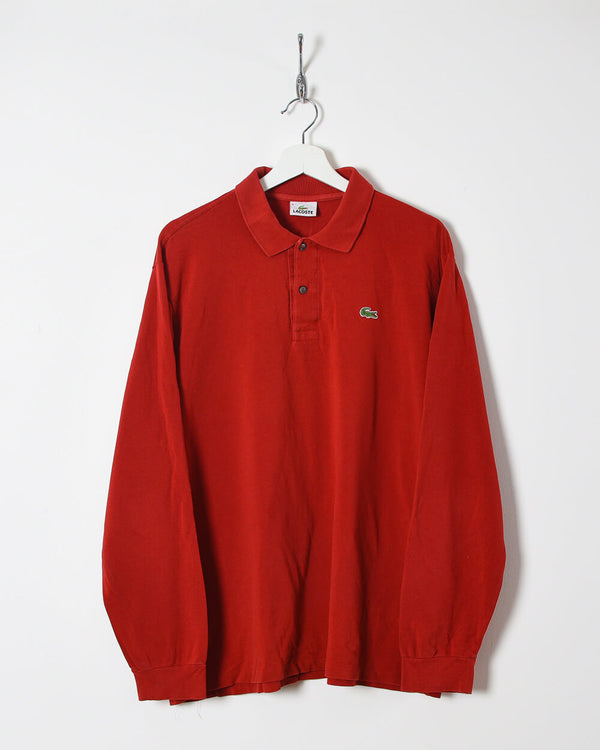 Lacoste Long Sleeved Polo Shirt - Large - Domno Vintage 90s, 80s, 00s Retro and Vintage Clothing