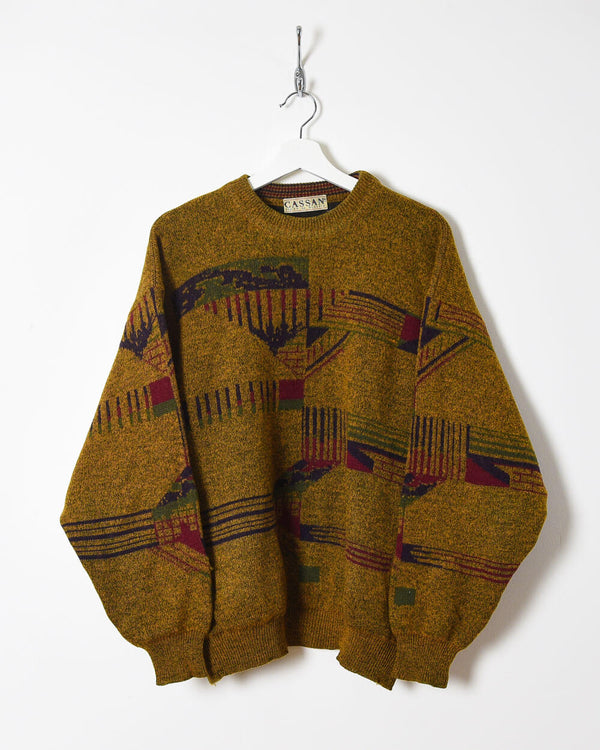 Vintage 90s Knitted Sweatshirt - Medium