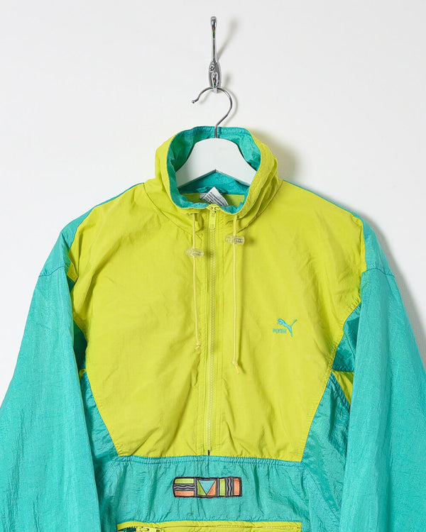 Puma 1/2 Zip Shell Jacket - Medium - Domno Vintage 90s, 80s, 00s Retro and Vintage Clothing