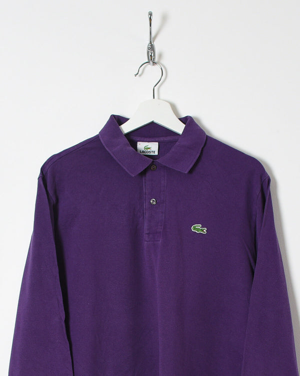 Lacoste Long Sleeved Polo Shirt - Medium - Domno Vintage 90s, 80s, 00s Retro and Vintage Clothing