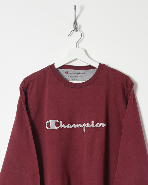 Champion Long Sleeved T-Shirt - Medium - Domno Vintage 90s, 80s, 00s Retro and Vintage Clothing