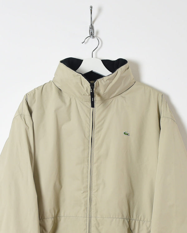 Lacoste Fleece Lined Jacket - Large - Domno Vintage