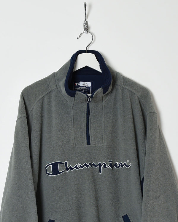 Champion 1/4 Zip Fleece - X-Large - Domno Vintage 90s, 80s, 00s Retro and Vintage Clothing