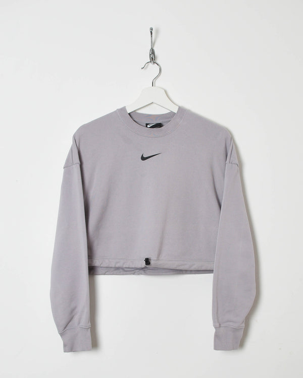 Nike Women's Cropped Sweatshirt - Medium - Domno Vintage 90s, 80s, 00s Retro and Vintage Clothing