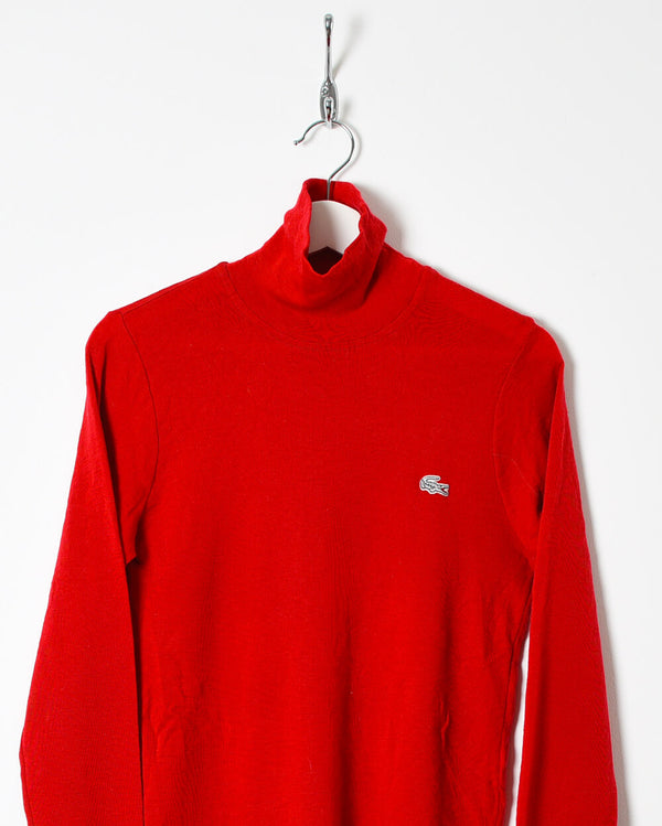 Lacoste Women's Turtle Neck Sweatshirt - Small - Domno Vintage