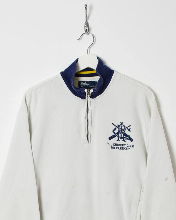 Ralph Lauren 1/4 Zip Sweatshirt - Medium - Domno Vintage 90s, 80s, 00s Retro and Vintage Clothing