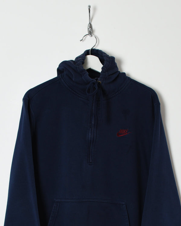 Nike 1/4 Zip Hoodie - Medium - Domno Vintage 90s, 80s, 00s Retro and Vintage Clothing