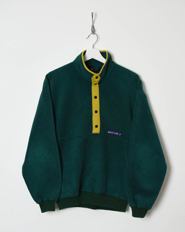 Vintage 90s 1/4 Button Up Fleece - Small