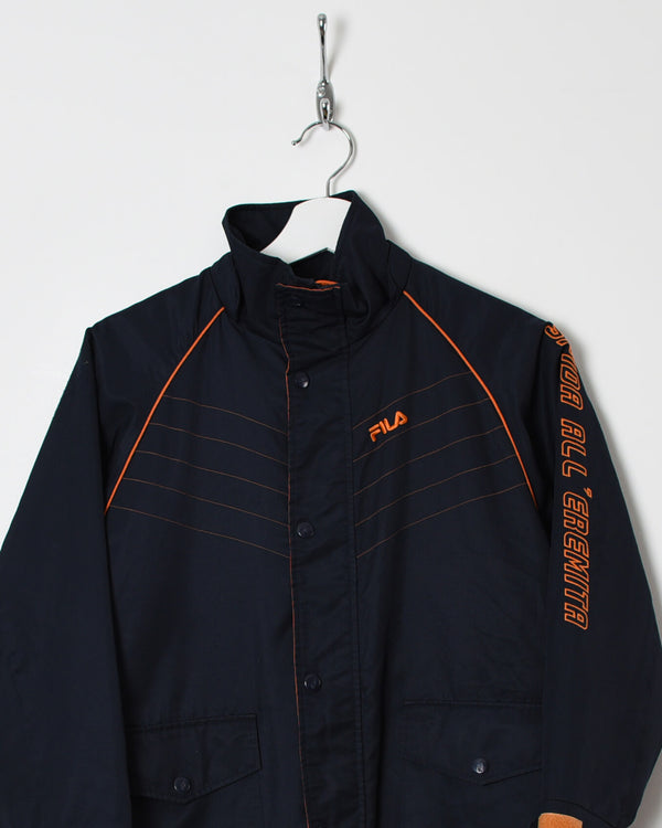 Fila Long Jacket - Small - Domno Vintage 90s, 80s, 00s Retro and Vintage Clothing