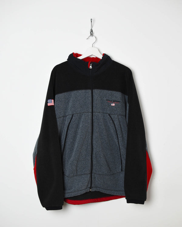 Ralph Lauren Polo Sport Fleece - X-Large - Domno Vintage 90s, 80s, 00s Retro and Vintage Clothing