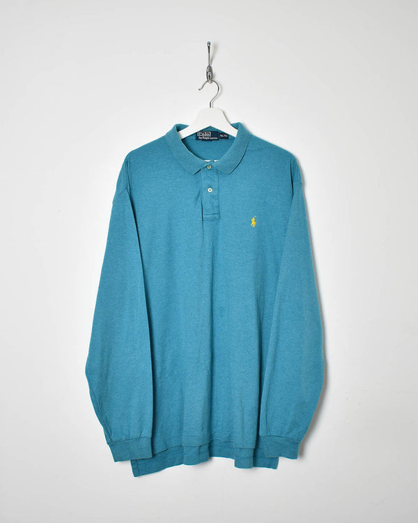 Ralph Lauren Long Sleeve Polo Shirt - X-Large - Domno Vintage 90s, 80s, 00s Retro and Vintage Clothing