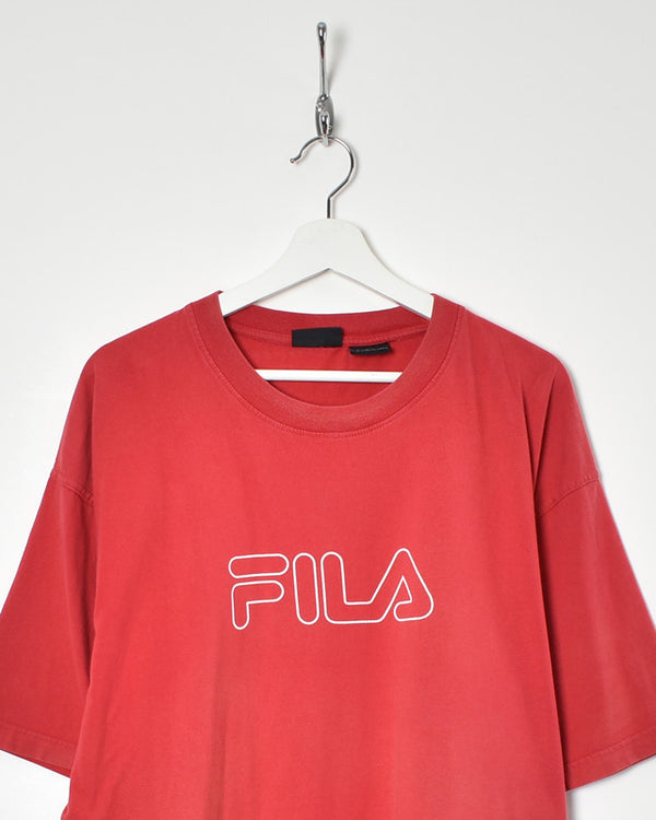 Fila T-Shirt - XX-Large - Domno Vintage 90s, 80s, 00s Retro and Vintage Clothing