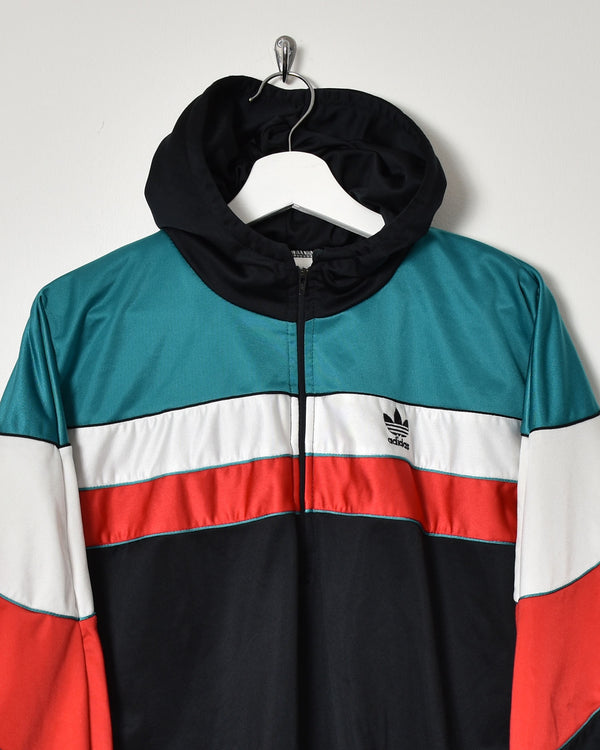 Adidas 1/4 Zip Tracksuit Top - Medium - Domno Vintage 90s, 80s, 00s Retro and Vintage Clothing