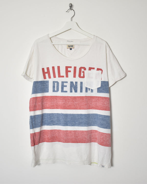 Tommy Hilfiger Denim T-Shirt - X-Large - Domno Vintage 90s, 80s, 00s Retro and Vintage Clothing
