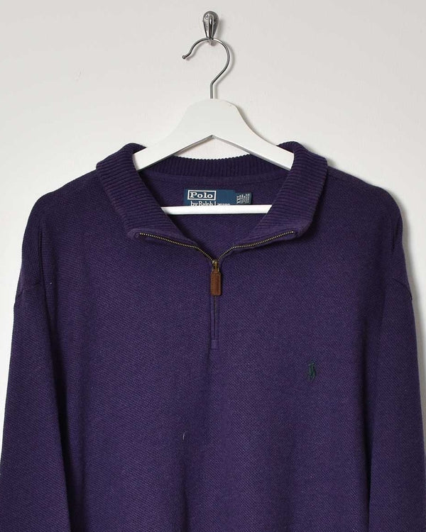 Ralph Lauren 1/4 Zip Sweatshirt - XX-Large - Domno Vintage 90s, 80s, 00s Retro and Vintage Clothing
