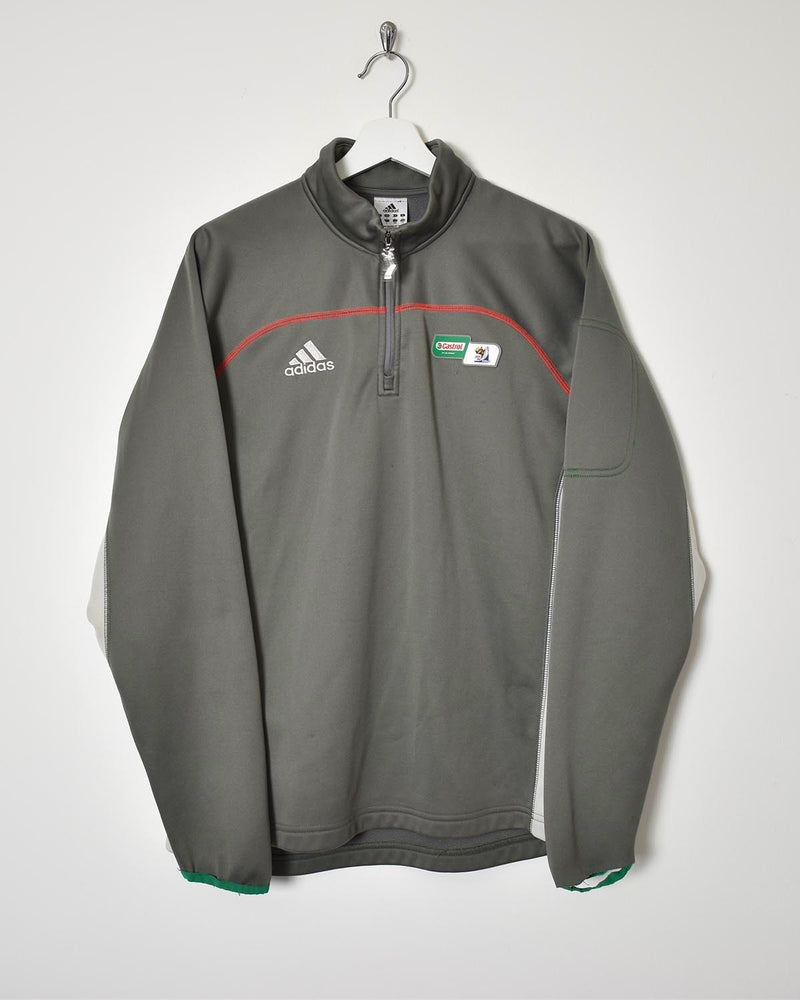 Adidas 1/4 Zip Tracksuit Top - Large - Domno Vintage 90s, 80s, 00s Retro and Vintage Clothing