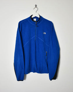 The North Face 1/4 Zip Fleece - Large - Domno Vintage 90s, 80s, 00s Retro and Vintage Clothing