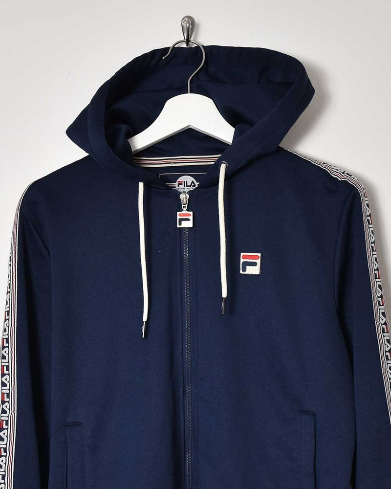 Fila Hooded Tracksuit Top - Small - Domno Vintage 90s, 80s, 00s Retro and Vintage Clothing