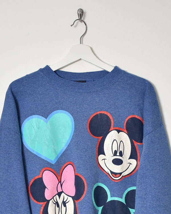 Mickey and Minnie Sweatshirt - Large - Domno Vintage 90s, 80s, 00s Retro and Vintage Clothing
