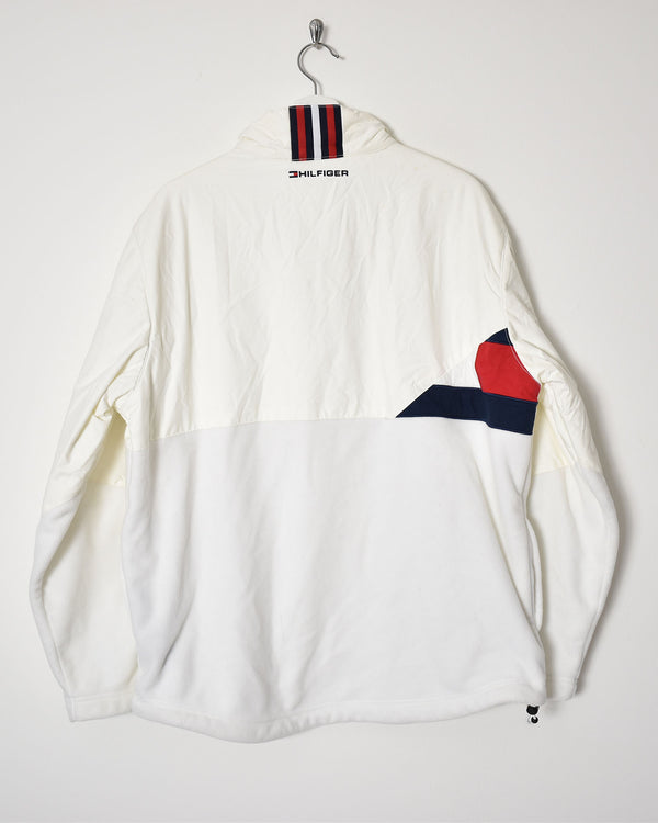 Tommy Hilfiger 1/4 Zip Fleece Jacket - Large - Domno Vintage 90s, 80s, 00s Retro and Vintage Clothing