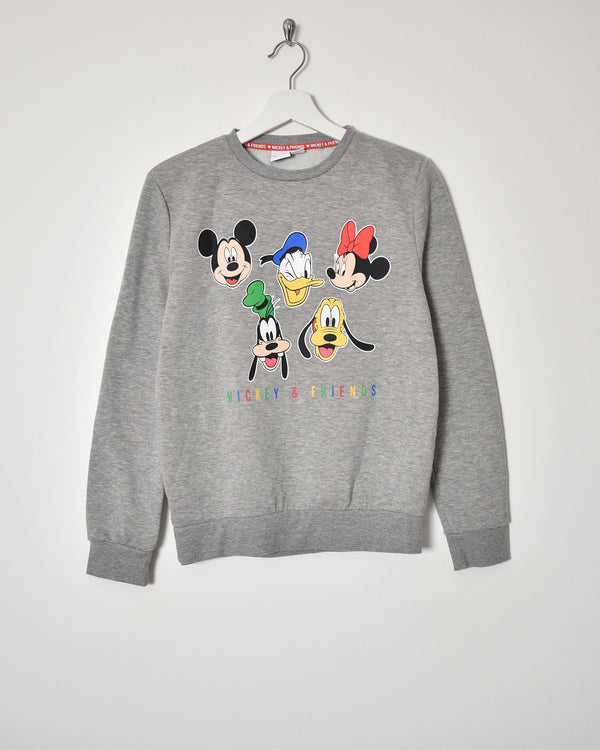 Mickey Mouse and Friends Sweatshirt - X-Small - Domno Vintage 90s, 80s, 00s Retro and Vintage Clothing