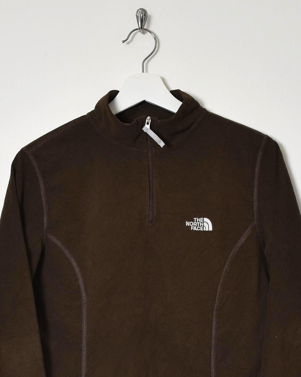 The North Face Women's 1/4 Zip Fleece - Medium - Domno Vintage 90s, 80s, 00s Retro and Vintage Clothing