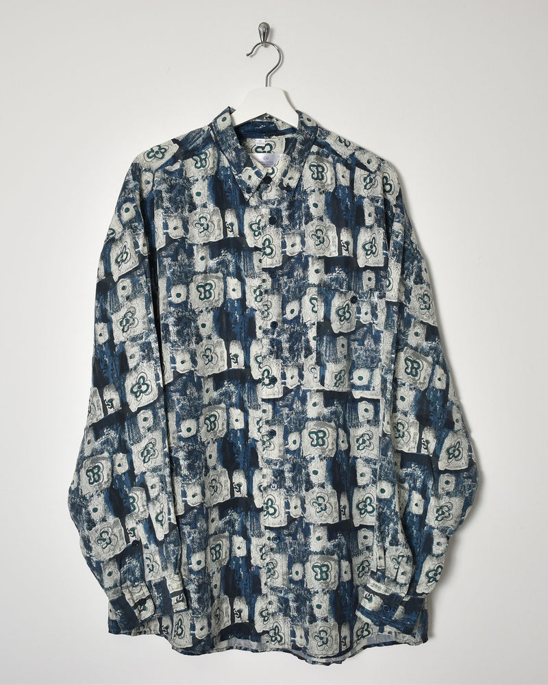 Silk Shirt - XX-Large - Domno Vintage 90s, 80s, 00s Retro and Vintage Clothing