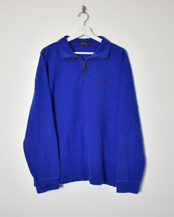Ralph Lauren 1/4 Zip Sweatshirt - X-Large - Domno Vintage 90s, 80s, 00s Retro and Vintage Clothing