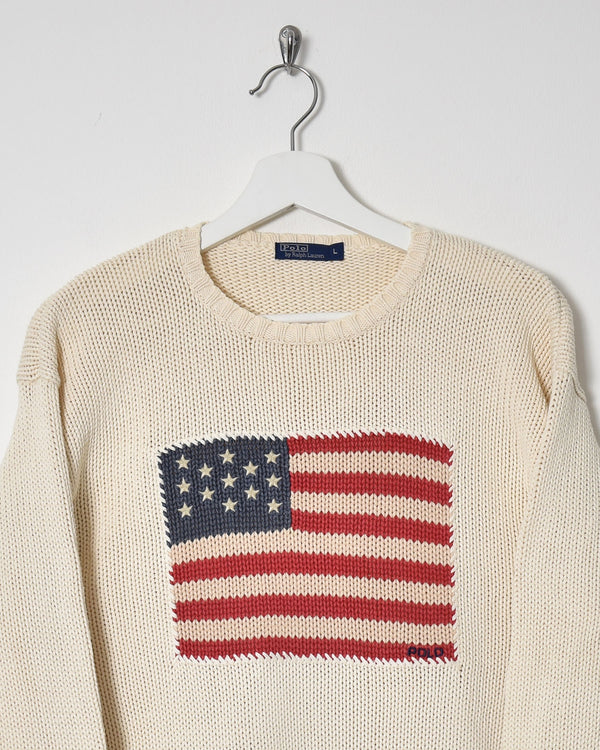 Ralph Lauren Knitwear Sweatshirt - Medium - Domno Vintage 90s, 80s, 00s Retro and Vintage Clothing