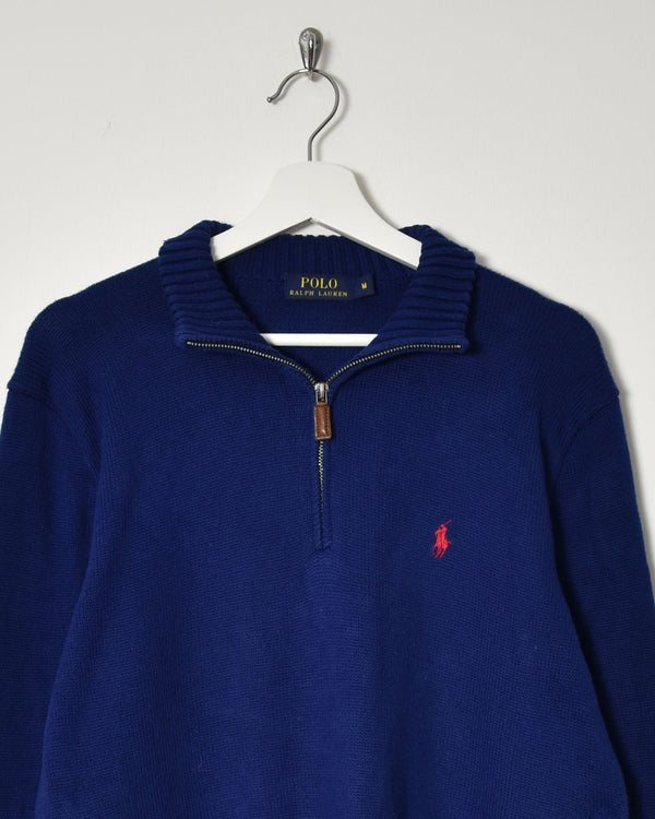 Ralph Lauren 1/4 Zip Knitwear Sweatshirt - Medium - Domno Vintage 90s, 80s, 00s Retro and Vintage Clothing