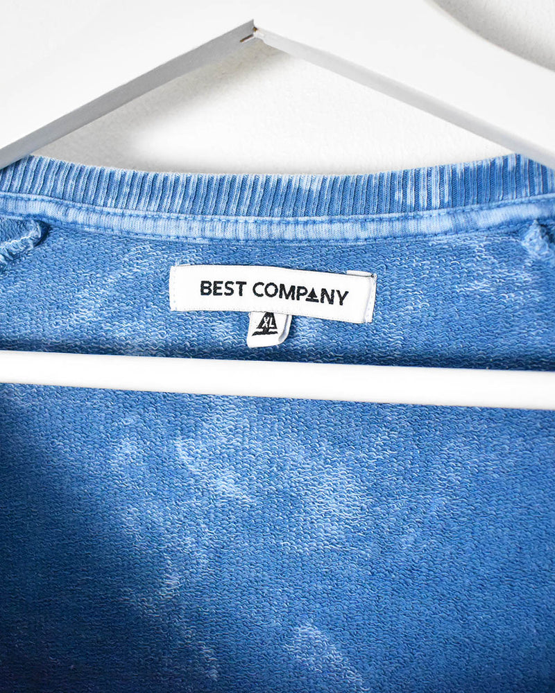 Best Company Sweatshirt - Small - Domno Vintage 90s, 80s, 00s Retro and Vintage Clothing