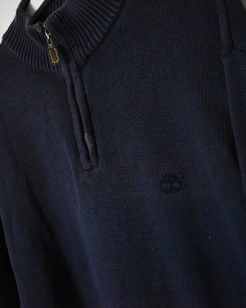 Timberland 1/4 Zip Knitwear Sweatshirt - Large - Domno Vintage 90s, 80s, 00s Retro and Vintage Clothing
