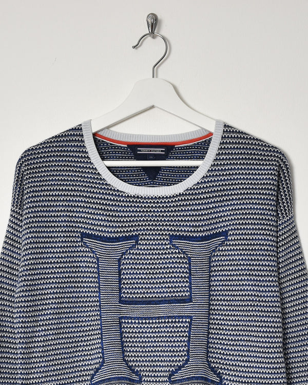 Tommy Hilfiger Women's Sweatshirt - Small - Domno Vintage 90s, 80s, 00s Retro and Vintage Clothing