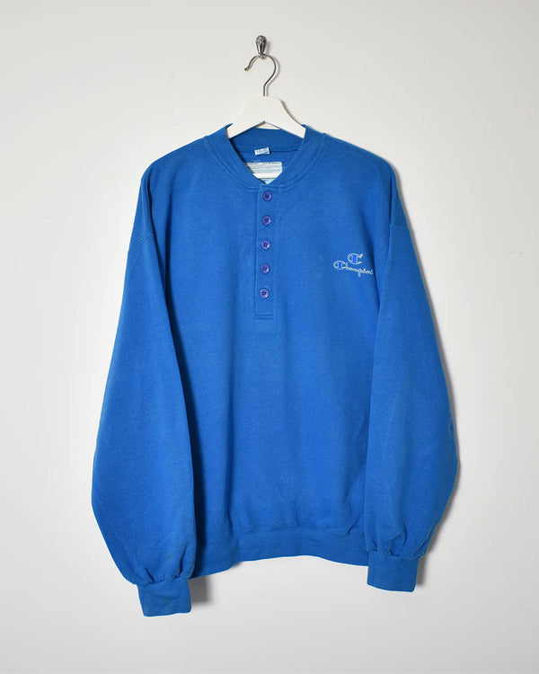Champion Button Up Sweatshirt - X-Large